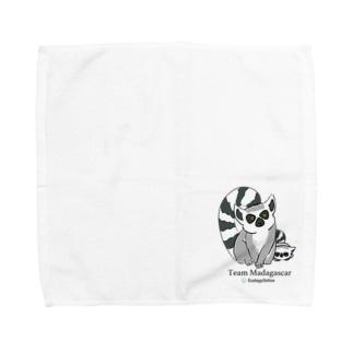 ワオキツネザル Towel Handkerchief