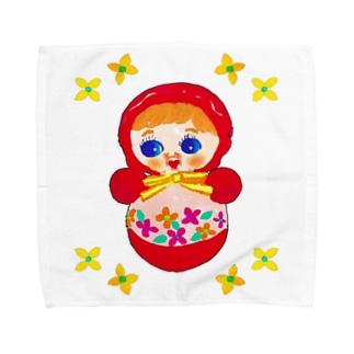 OKIAGARI KOBOSHI(ロゴなし) Towel handkerchiefs