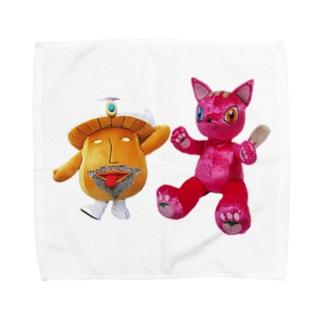 サイケ・デリー&らぶちゃん Towel handkerchiefs