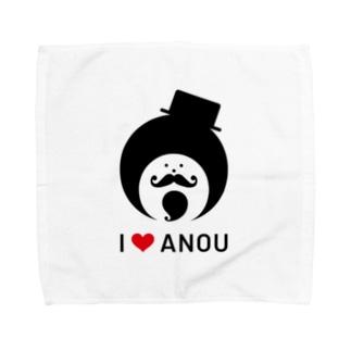 アイラブアノウサン Towel handkerchiefs