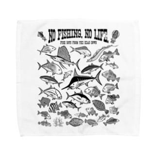 Saltwater fish_3K Towel handkerchiefs