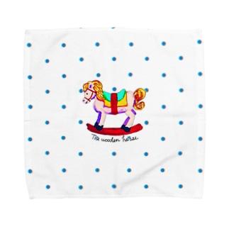木馬(ドット) Towel handkerchiefs