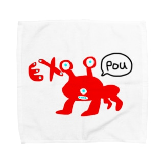 Pouガエル Towel Handkerchief