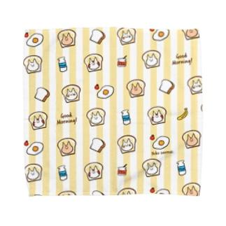 ぱん猫 朝食柄 Towel handkerchiefs