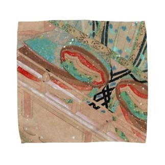 雪の中を待つ平安姫君 平安古画模写より (承香院グッズ) Towel handkerchiefs