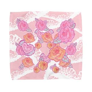 elegant rose タオルハンカチ Towel handkerchiefs