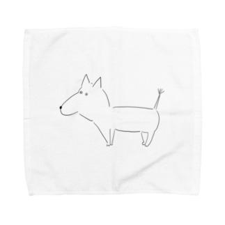 らいおんしっぽのわんこちゃん Towel handkerchiefs