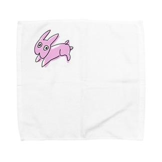 からめんうさぎ Towel handkerchiefs
