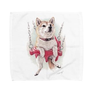 柴犬16 Towel handkerchiefs