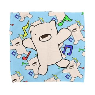 ケーマンハンカチ(Ver.ウキウキ)水色 Towel handkerchiefs