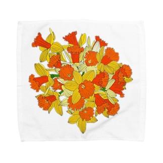 水仙のブーケ Towel handkerchiefs