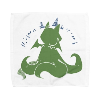冒涜的な猫ルフ(背中白線) Towel handkerchiefs
