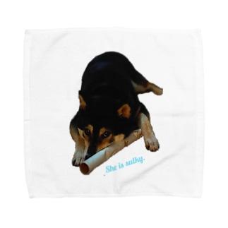拗ねる KUROSHIBA Towel handkerchiefs