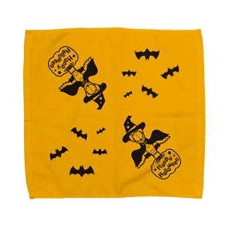 ハッピーハロウィン☆ハシビロコウ Towel handkerchiefs