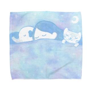 おやすみちゃん Towel handkerchiefs