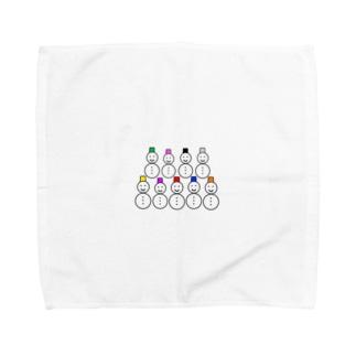 雪だるま9体 Towel handkerchiefs