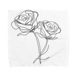 モノクロ_r Towel handkerchiefs