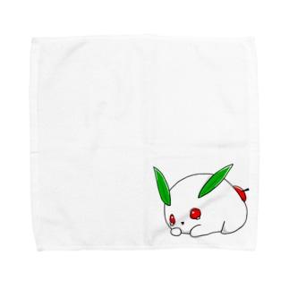 ユキウサギ-Draw jojo Towel handkerchiefs