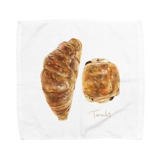 クロワッサンとパンオショコラ Towel handkerchiefs