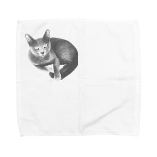 くつろぎミミ Towel handkerchiefs