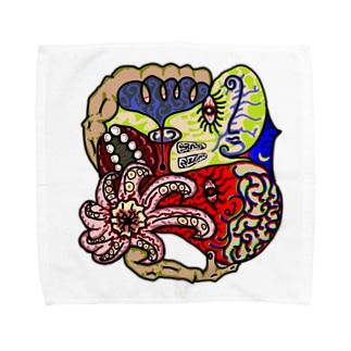 蛸の夜空 Towel handkerchiefs