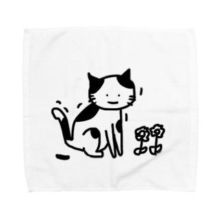 憤ッ!ネコちゃん Towel handkerchiefs