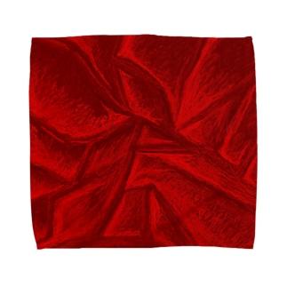 Red-Crash Towel handkerchiefs