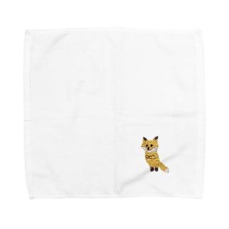 こぎつねコットン Towel handkerchiefs