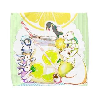 寅屋のレモネード(緑) Towel Handkerchief