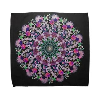 曼荼羅mandalaタオルハンカチ Towel handkerchiefs