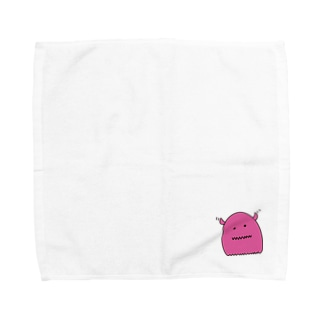 もにちゃん(ピンク) Towel handkerchiefs