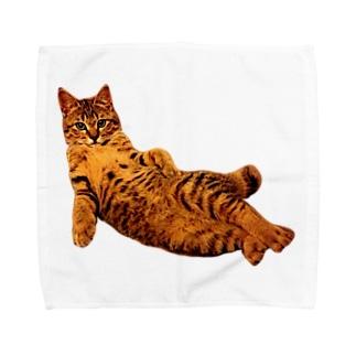 Elegant Cat ① Towel handkerchiefs