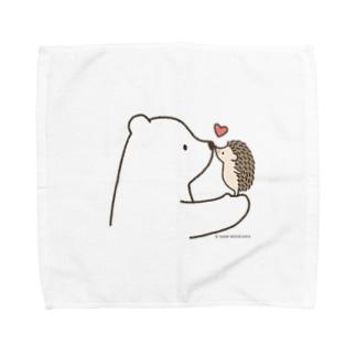 しろくま&ハリネズミ Towel handkerchiefs