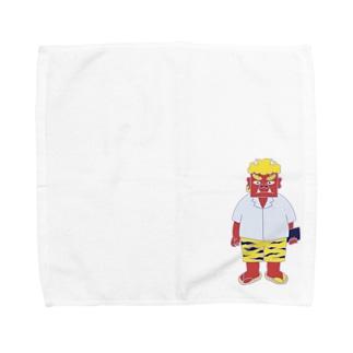 鬼くん Towel handkerchiefs