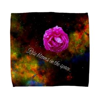 うちゅうのバラだ Towel handkerchiefs