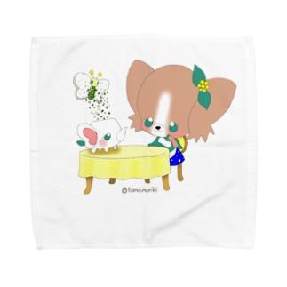 ステキなお茶会に致しましょう♬ Towel handkerchiefs