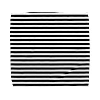 シンプルボーダー 黒 Towel handkerchiefs
