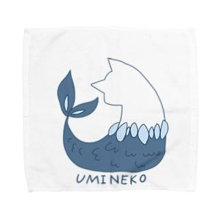 ウミネコ(線あり) Towel handkerchiefs