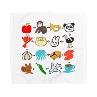 ゆるいしりとり(16コ) Towel handkerchiefs