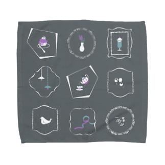 喫茶一昨日 窓グレー Towel handkerchiefs