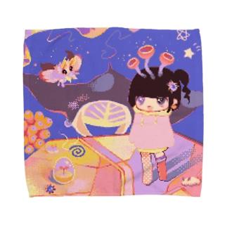 ピンクの塩田で会おう Towel handkerchiefs
