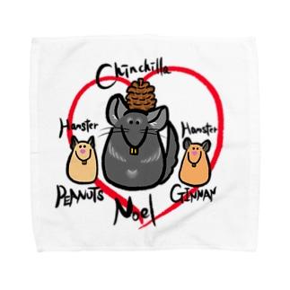 チンチラのノエルん Towel handkerchiefs