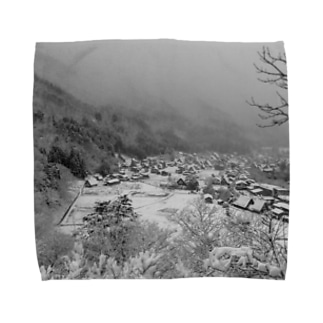 雪山@白川郷 Towel handkerchiefs