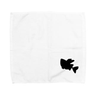 オニボラちゃん(シルエット) Towel handkerchiefs