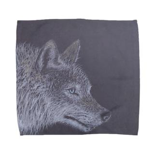 真夜中の狼 Towel handkerchiefs