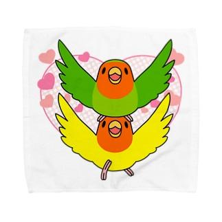 まめるりはことりのラブリーコザクラインコ【まめるりはことり】 Towel handkerchiefs