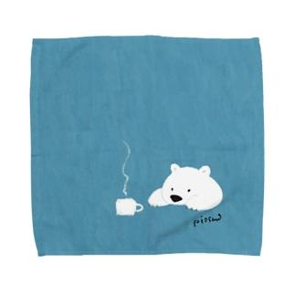 しろくまのティータイム Towel handkerchiefs