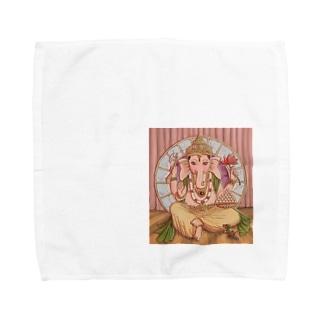 ガネーシャ様③ Towel handkerchiefs
