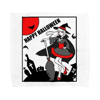 魔女のハロウィンナイト Towel handkerchiefs