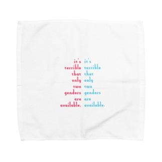 人工/人口ピラミッド(細字ver.) Towel handkerchiefs